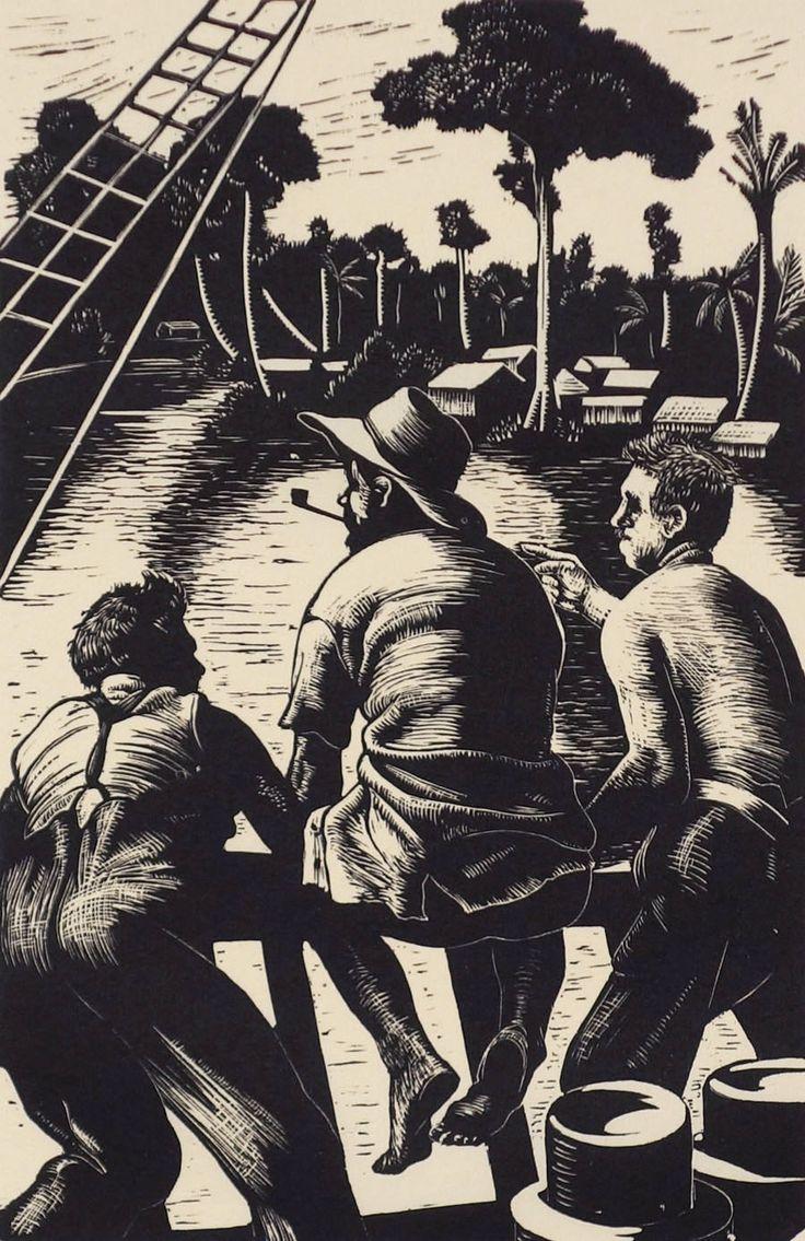 Clare Leighton : Jungle Village at Davidson Galleries