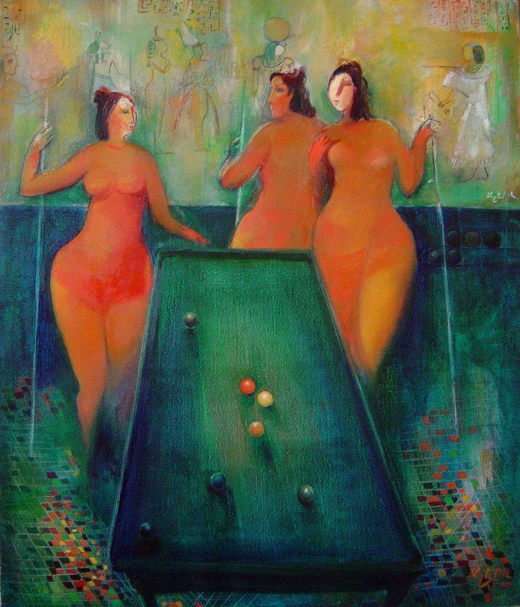 """Billiards №1"" oil on canvas, 85x70"
