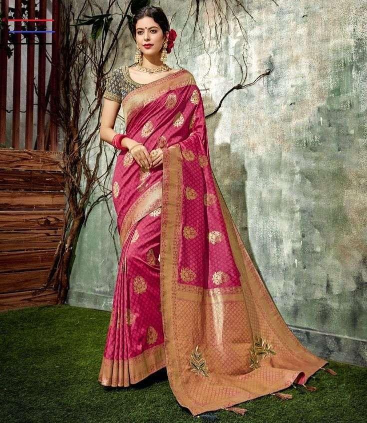 Indian Designer Soft Silk Weaving Saree Gift Wedding Wear Party Wedding Sari Partywear with Designer Blouse