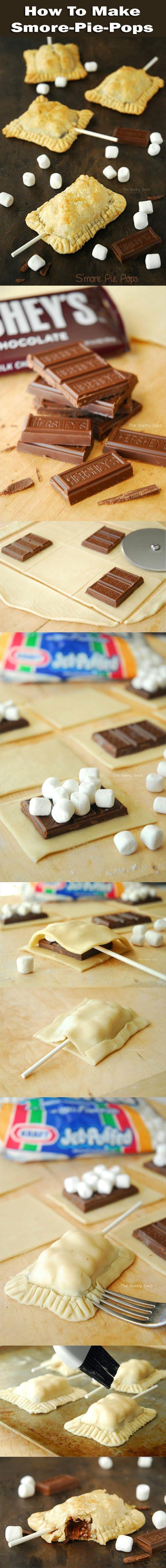 Chocolate marshmallows pie pop