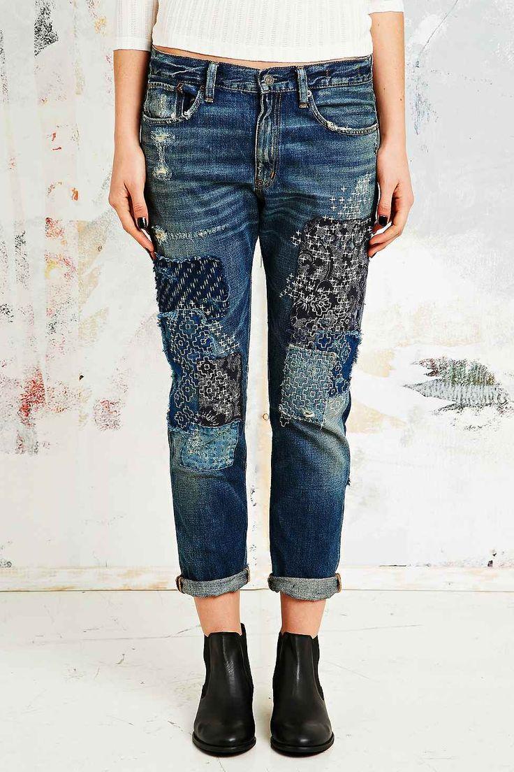 best 25 patchwork jeans ideas on pinterest. Black Bedroom Furniture Sets. Home Design Ideas