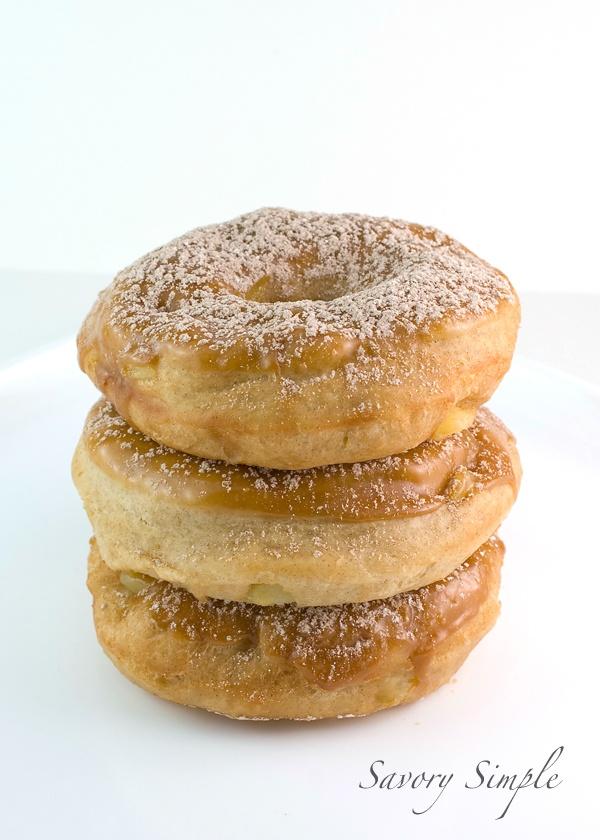 Apple Doughnuts with Caramel Glaze from @Jennifer ~ Savory Simple