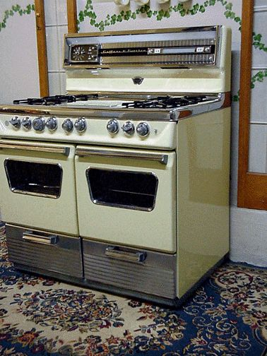 antique gas stoves late 1950s gaffers sattler yellow