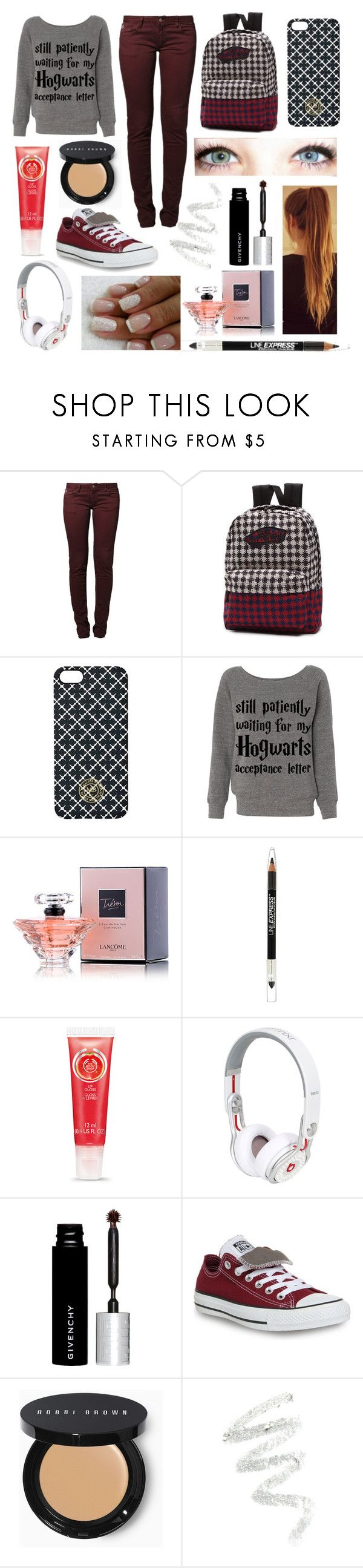 """#2"" by bella-has-a-galaxy ❤ liked on Polyvore featuring Le Temps Des Cerises, Vans, KEEP ME, By Malene Birger, Lancôme, Maybelline, Seconda Base, Givenchy, Converse and Bobbi Brown Cosmetics"