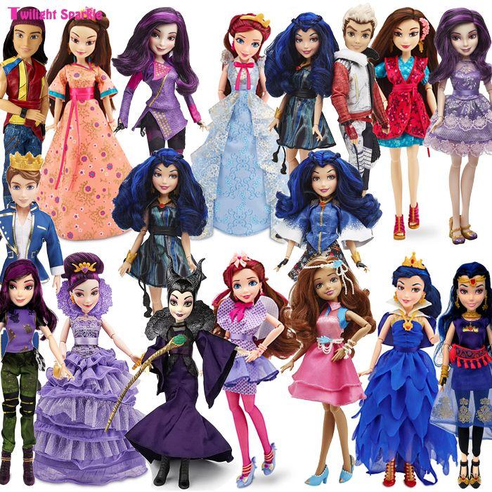 Josefina Alta Calidad genuino Descendientes Maléfica Articulaciones Modelo de Dibujos Animados Figura de Juguete Muñecas de Moda para Niñas Juguetes de Regalo Clásico