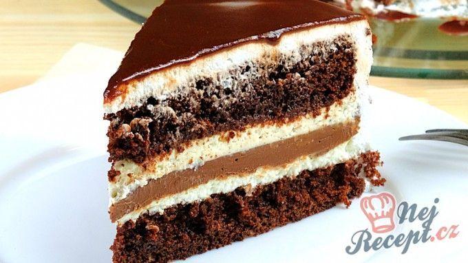 Lahodný čoko-mascarpone dort | NejRecept.cz