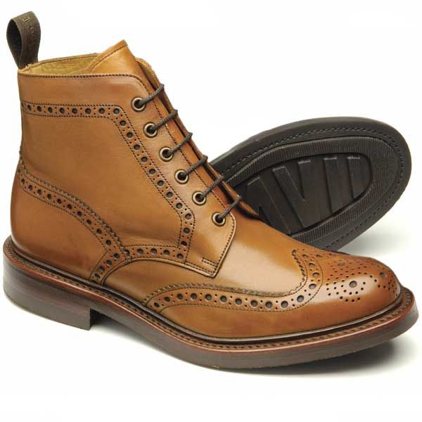 Loake Shoes - Bedale - Brogue Boots - Tan (Brown)