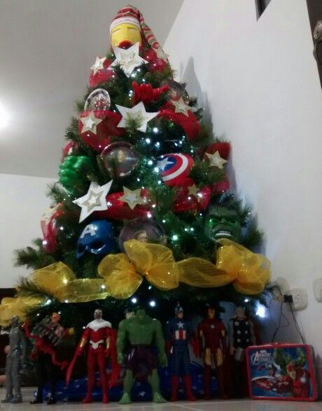 Super heroes Arbol de Navidad para niños