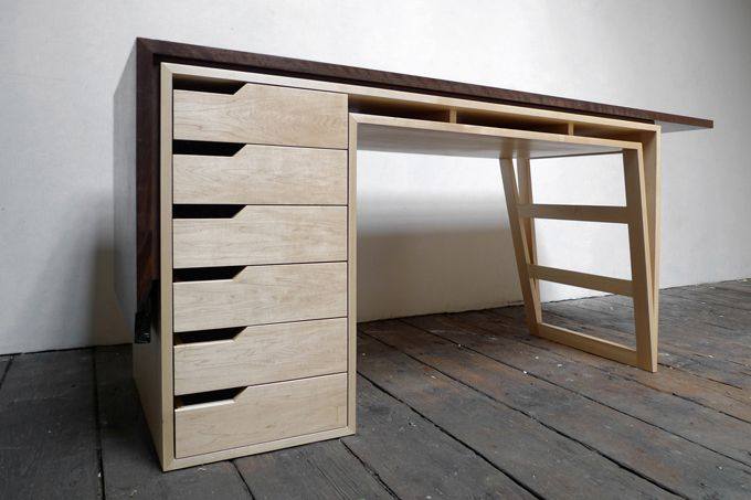 Lets talk about design: Desk with drawers by Asher Israelow