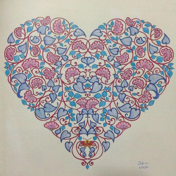 Secret Garden Colouring Book By Johanna Basford Heart