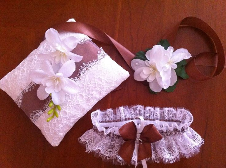 Подушечка для колец,браслет подружки невесты,подвязка