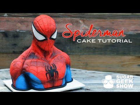 Spiderman Cake Tutorial Promo - YouTube