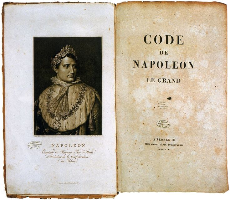 Napoleonic Code: the French civil code established under Napoleon I in 1804. The code forbade privileges based on birth, allowed freedom of religion, and specified that government jobs should go to must qualified.