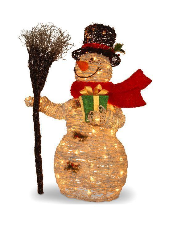 Clearance Christmas Decorations #clearance #christmas #decor #snowman #broom #home #outdoor