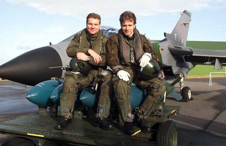 "uniformstories:  Uniformfact: Colin McGregor (Star Wars Ewan McGregor's Brother) is a British RAF pilot and goes by the call-sign ""Obi Two."""