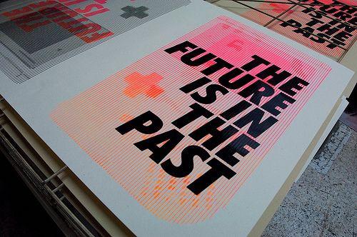 Future & Past / handorinted #silkcreen