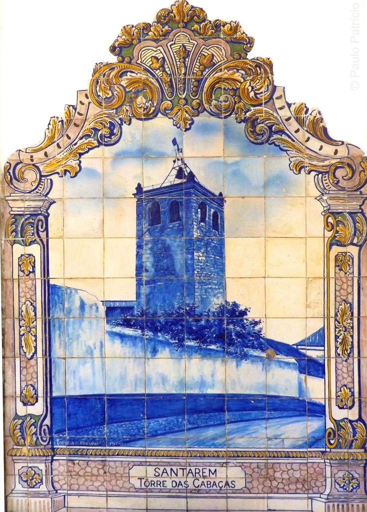 Paulo Patrício, actor, natural de Santarém, é conhecido pela sua carreira nos palcos e na televisão. Homem de talentos vários, captou uma excelente colecção de fotos dos painéis de azulejos que se encontram nas paredes da estação de caminho de ferro, na Ribeira de Santarém.   Azulejos da autoria de J.Oliveira, 1927