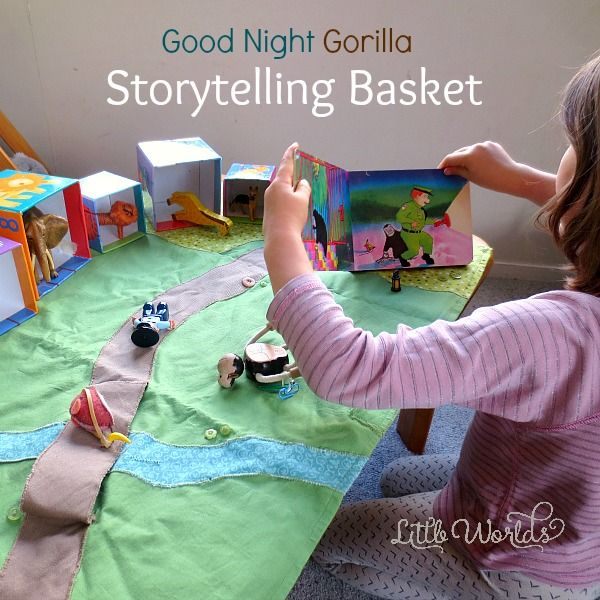 See what went into our story basket and read how you can easily put one together at home. Your children will love playing out their favourite stories!