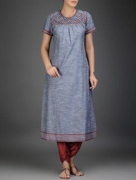 Red Tie-Up Waist Cotton Salwar