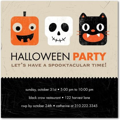 Have a spooktacular time with this Halloween party invitation.