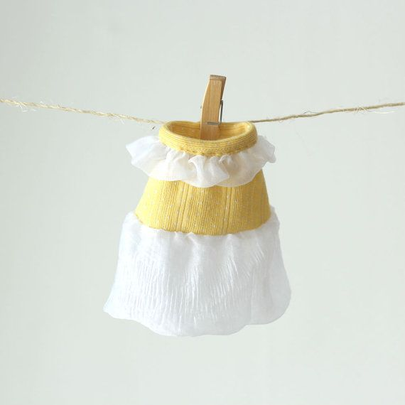 Doll Clothes Girl Doll Ruffled Dress 12 inch Doll by RibizliDesign, $6.00