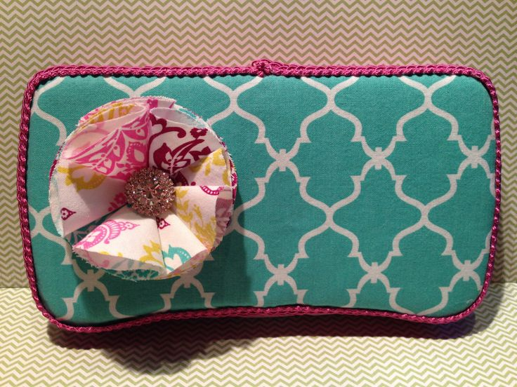 A personal favorite from my Etsy shop https://www.etsy.com/listing/202064979/travel-wipes-case-turquoise-qua-trefoil