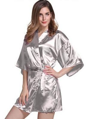 RB030 Sexy Large Size Sexy Satin Night Robe Lace Bathrobe Perfect Wedding  Bride Bridesmaid Robes Dressing Gown For Women a9787e91b