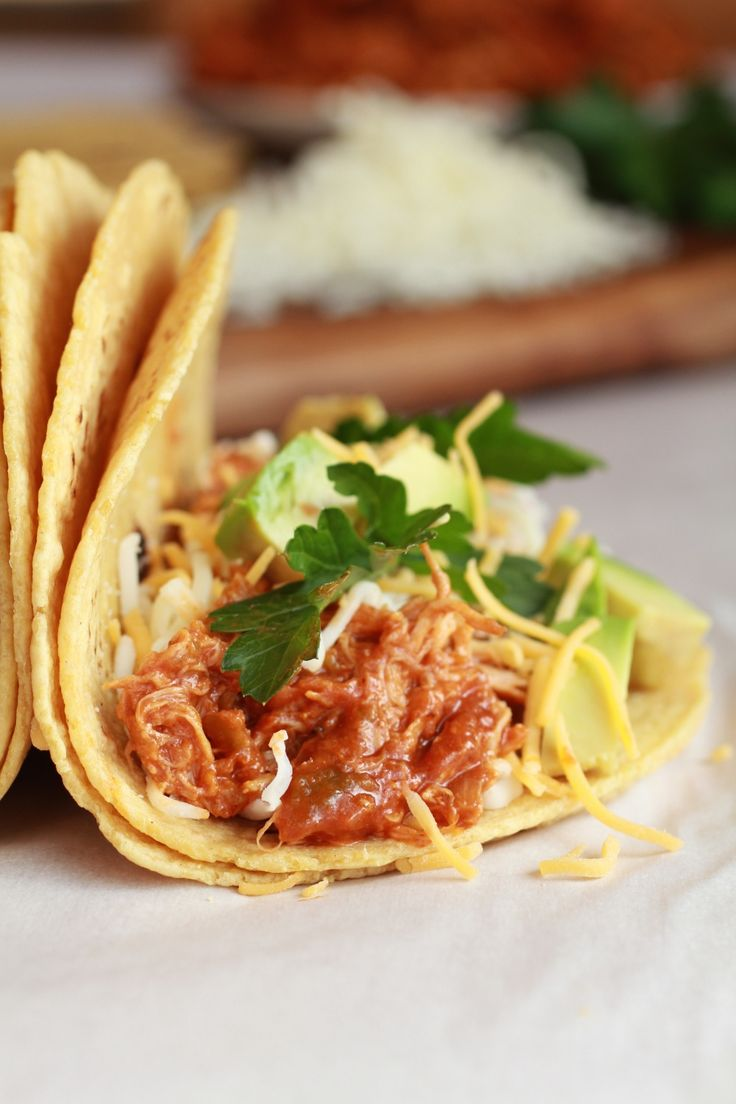 Crockpot Sweet and Spicy Chicken Tacos. http://www.pinterest.com ...