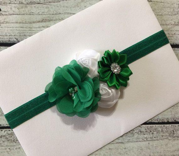 Diadema de día de San Patricio trébol venda cinta verde y