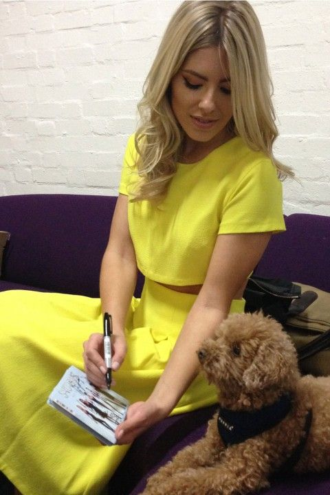 Mollie King On The Set Of A Saturdays Video - My Month By Mollie King