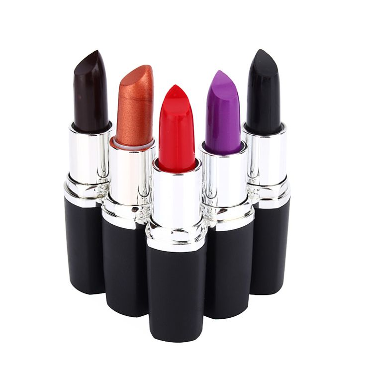 Waterdichte Langdurige Lipgloss Vampire Stijl Make Paars Goud Zwart Rode Lippenstift Matte Lip Batom Dark Kleur Schoonheid Y28