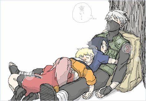 Team 7: Sakura, Naruto, Sasuke & Kakashi <3