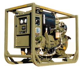 Dewey's 2kW PM-MEP 501A military tactical generator, a 28VDC open-frame portable diesel generator. - Image - Army Technology