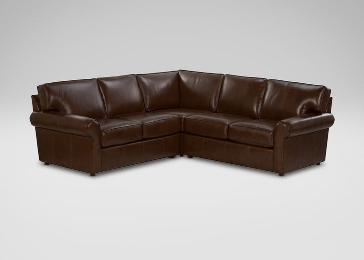 Retreat Roll-Arm Leather Sectional - Ethan Allen