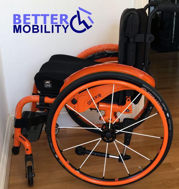 quickie xenon wheelchair wheelchairs disability disabled orange spokes - Wheel Chairs