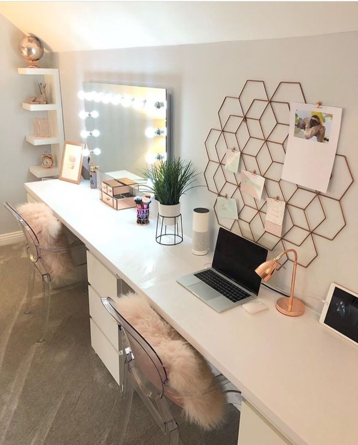 Simple #rose #gold #desks #for #bedroom #or #study #space in ...