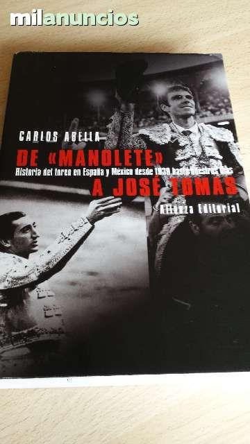 """Vendo libro """"De Manolete a Jose Tomas"""" Anuncio y más fotos aquí: http://www.milanuncios.com/libros/de-manolete-a-jose-tomas-141487844.htm"""