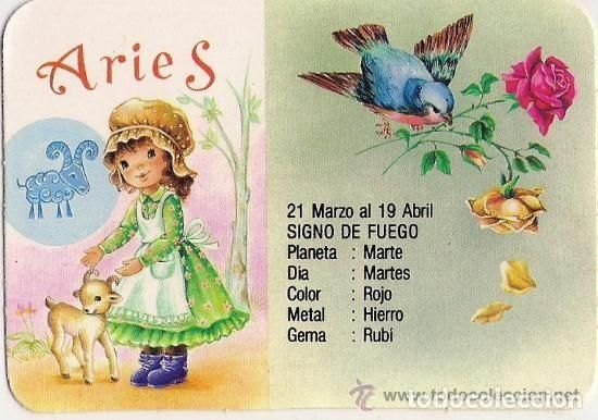 -24,929 ARIES HOROSCOPE CALENDAR YEAR 1989 WITH ADVERTISING, CB 257 SERIES, BEAUTIFUL DRAWING - Photo 1