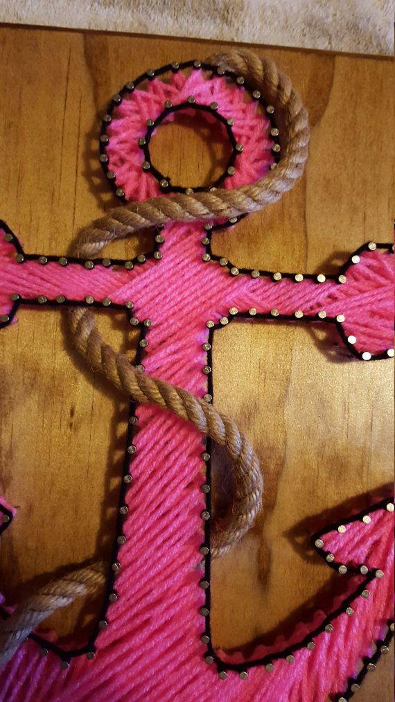 Ancla náutica rosa cadena arte con cable envío rápido