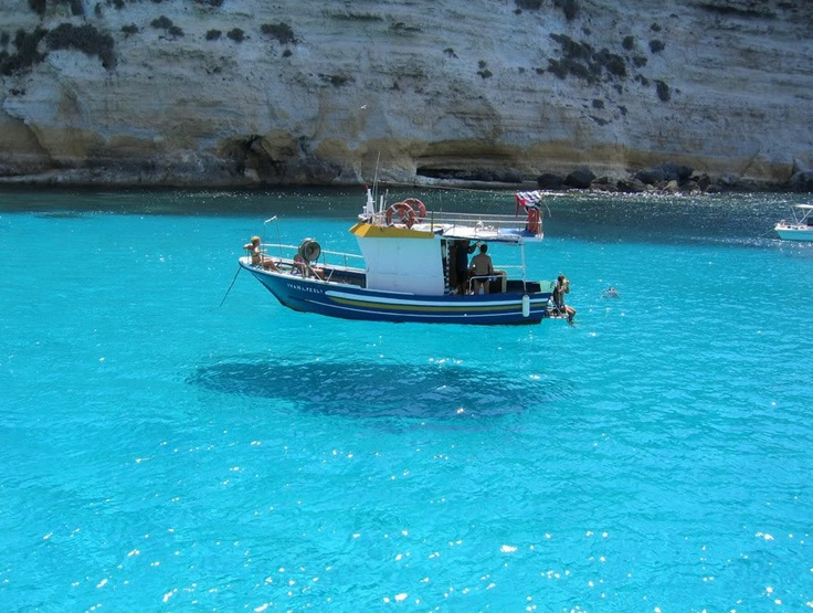 Sicily ~ the water is so clear, the boat looks like its floating