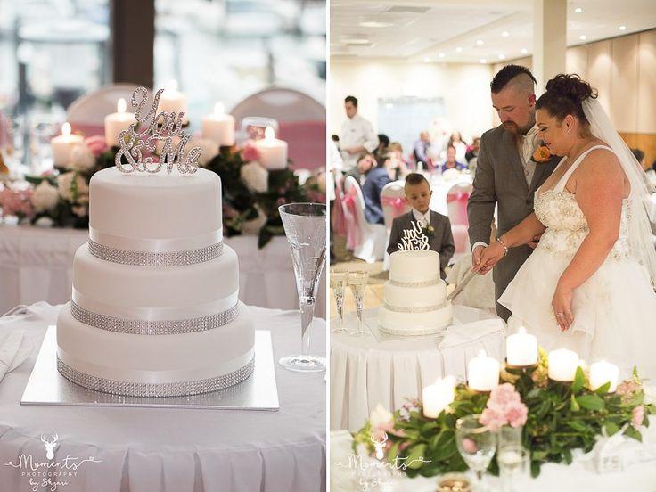 Sydney Wedding Photography. Wedding cake topper. wedding decor. Pink. Wedding reception. The Waterfront function centre - St George Motor Boat Club. www.momentsphotography.com.au
