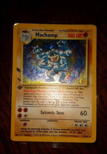 =] Machamp 8/102 Base Set Holo Rare Original Pokemon Card PL - http://collectibles.goshoppins.com/trading-cards/machamp-8102-base-set-holo-rare-original-pokemon-card-pl/