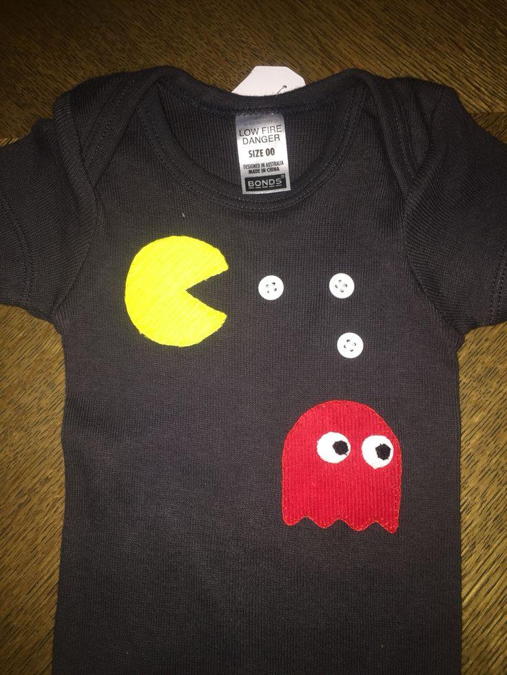 Pac man appliqué - baby clothes