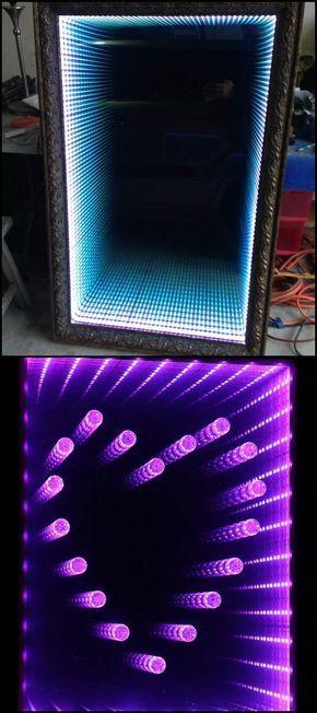 how to make an infinity led mirror d co espejo infinito dise o de muebles et mesas de pal. Black Bedroom Furniture Sets. Home Design Ideas