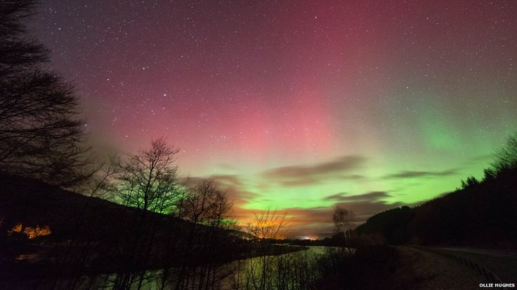 Ollie Hughes travelled from Edinburgh to Pitlochry at midnight to catch a glimpse of the lights and took this picture. #aurora boreals