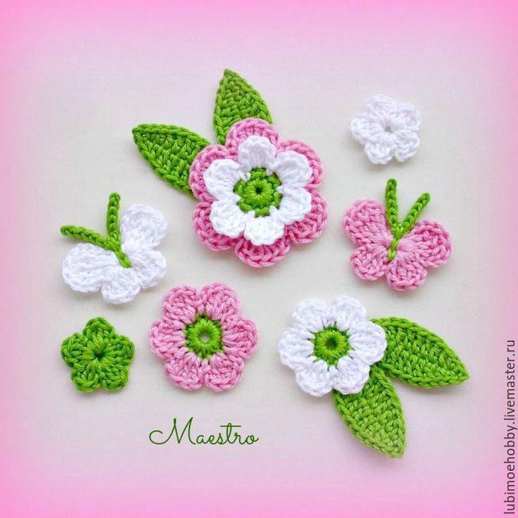 Аппликация цветы для украшения