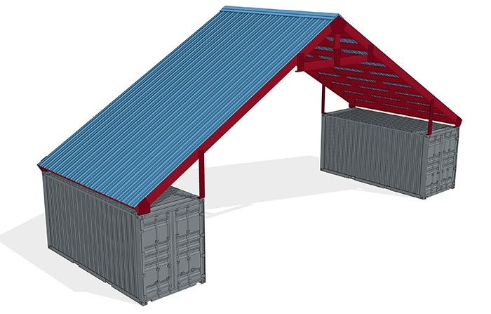 Shipping Container Roof Kit Price