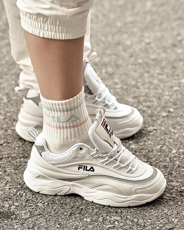 filausa debuts new chunky dad shoe, the FILA Ray. Head to