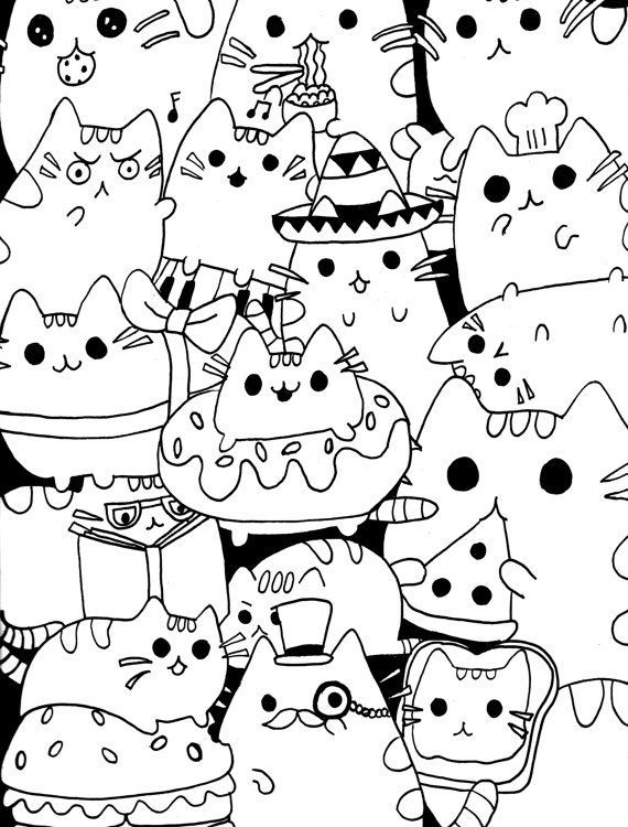Coloring Rocks Pusheen Coloring Pages Cat Coloring Book Cute Coloring Pages