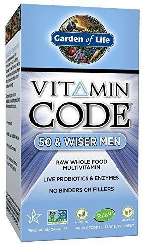 Garden of Life Vegetarian Multivitamin Supplement for Men - Vitamin Code 50 & Wiser Men's Raw Whole Food Vitamin with Probiotics, 240 Capsules //Price: $47.99 & FREE Shipping // #hashtag2 #animals #F4F #tagforlikes #vitaminC #vitaminC #instafollow #L4L